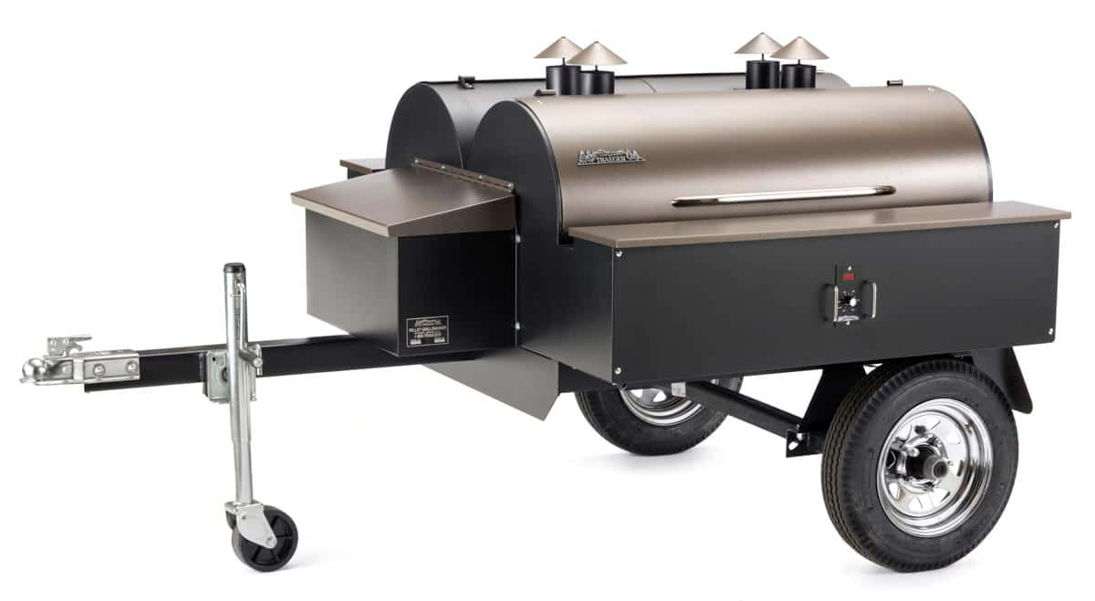 Trailer Wood-Fired BBQ Catering Grill