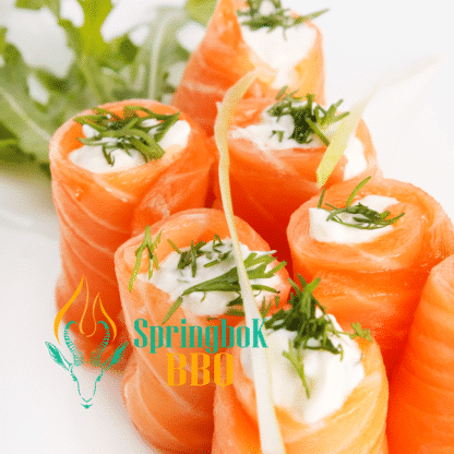 Springbok BBQ Catering Wood-Fired Salmon Roses