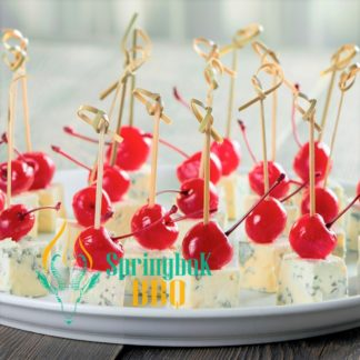 Cherry & Roquefort Canape Skewers