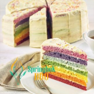 Buffet Catering Rainbow Cake