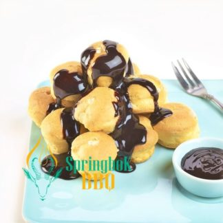 Buffet Catering Profiteroles with Chocolate Sauce